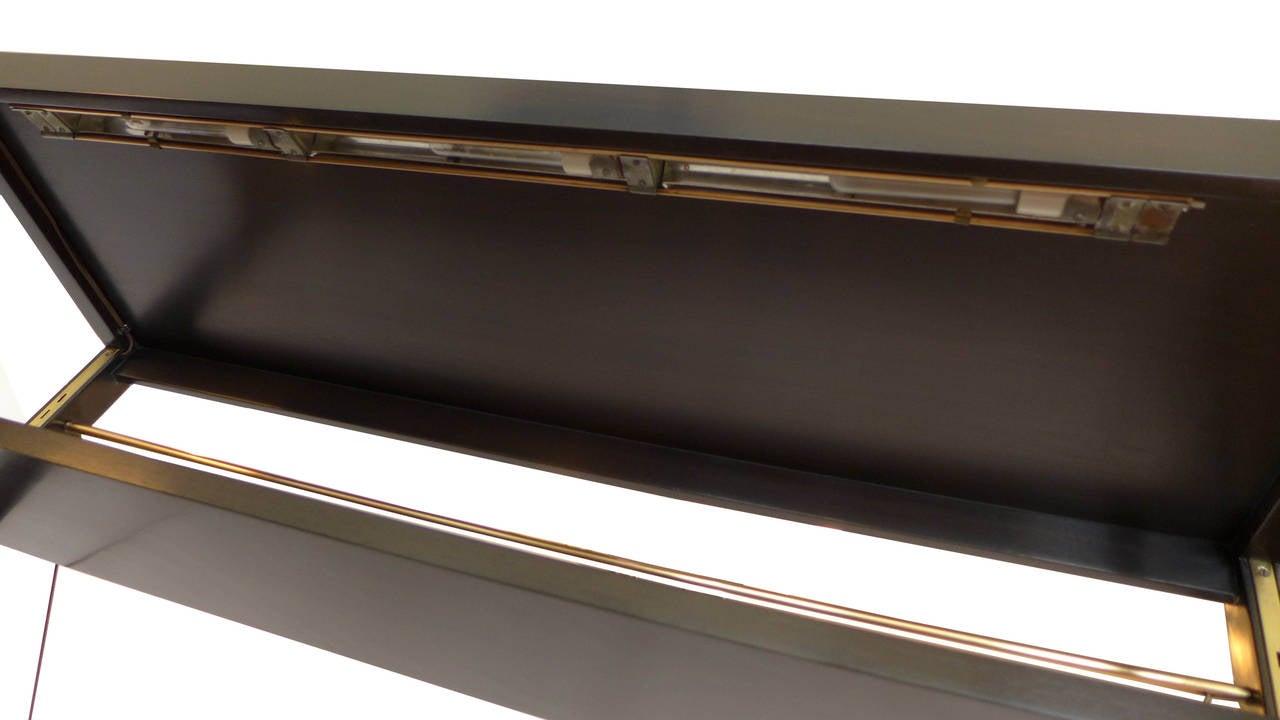 Rare Edward Wormley Open Frame Lit Shelf Room Divider for Dunbar 6