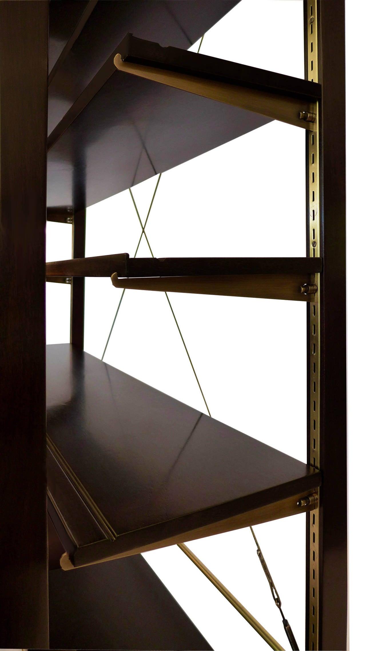 Rare Edward Wormley Open Frame Lit Shelf Room Divider for Dunbar 3