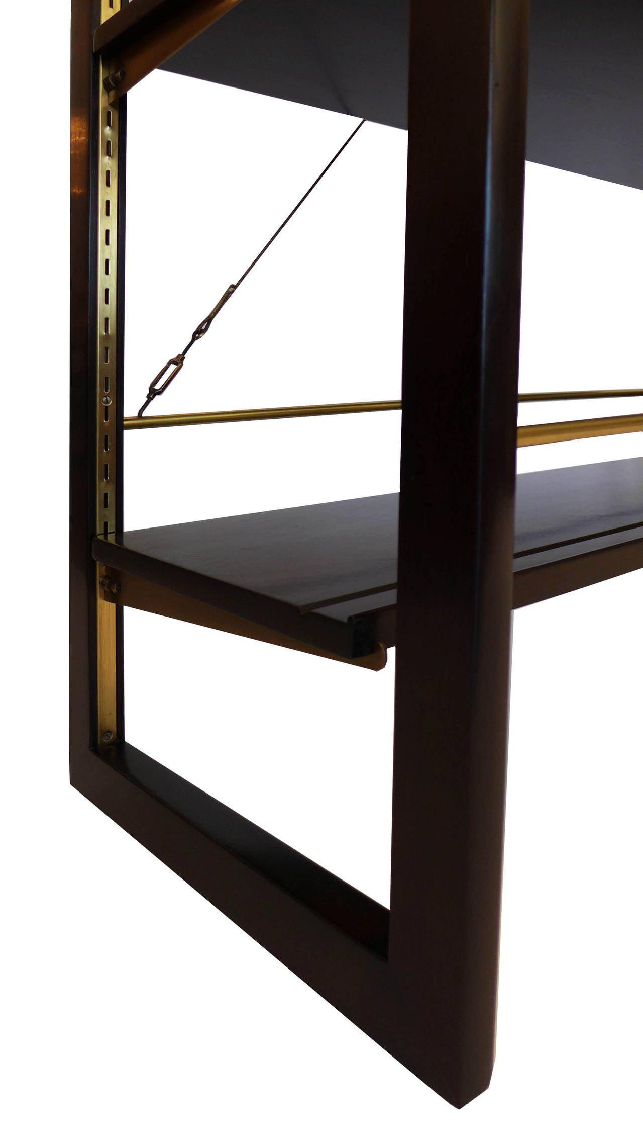 Rare Edward Wormley Open Frame Lit Shelf Room Divider for Dunbar 5