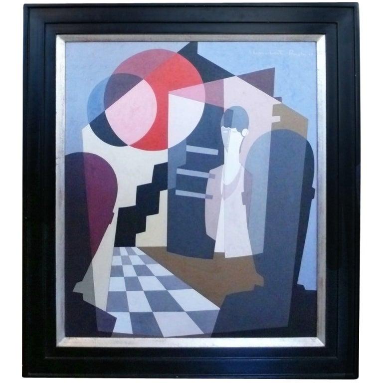 """Les Visiteurs"" Oil Painting by Jean Lambert Rucki 1"