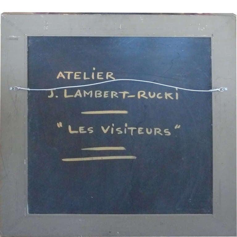 """Les Visiteurs"" Oil Painting by Jean Lambert Rucki 2"