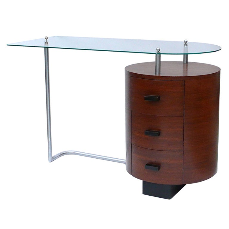 Rare Art Deco Desk by Gilbert Rohde for Herman Miller 1