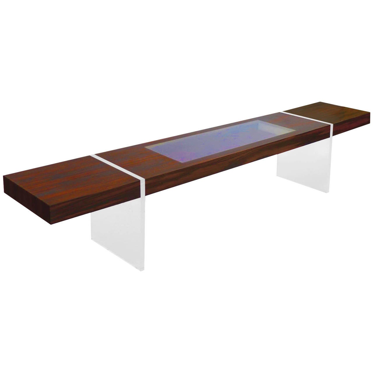 Custom Kagan Illuminated Rosewood Low Table For Sale At 1stdibs