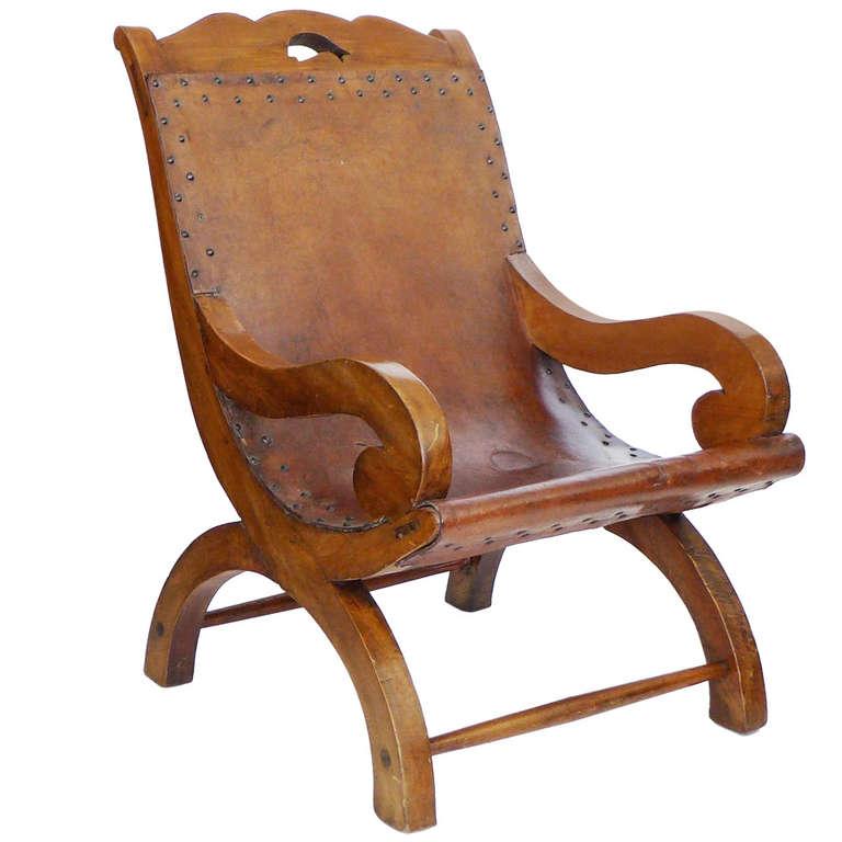 Original Handmade Chair Signed William Spratling For Sale