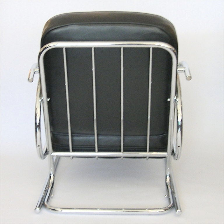 pair of streamline moderne art deco tubular chrome chairs steelcase lounge chairs steel frame lounge chairs