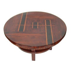 Exceptional Original Art Deco Rosewood Inlaid Coffee Table