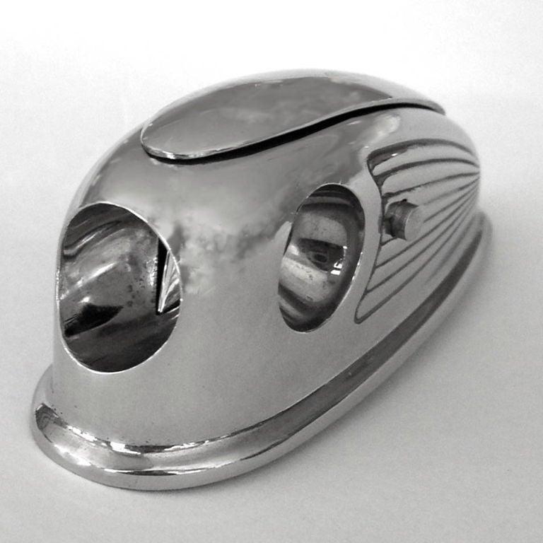 Rare Petite Streamline 1930's Art Deco Cigar Cutter image 2