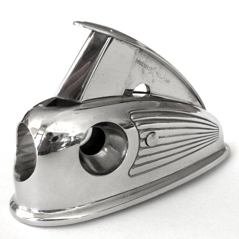 Rare Petite Streamline 1930's Art Deco Cigar Cutter image 3