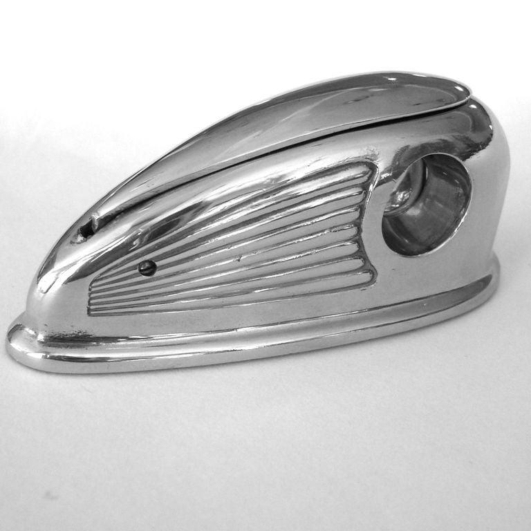 Rare Petite Streamline 1930's Art Deco Cigar Cutter 5