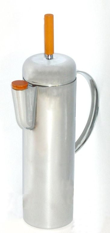 American 1938 Empire Cocktail Shaker by W.A. Weldon for Revere