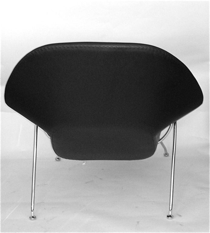 black leather eero saarinen womb chair and ottoman knoll at 1stdibs