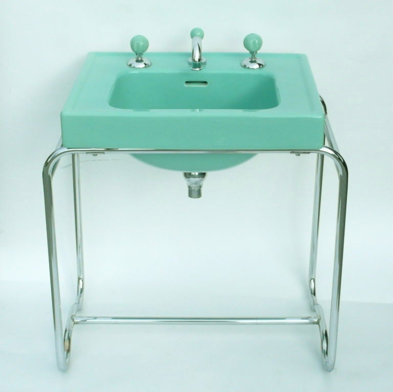 Iconic Original Streamline Art Deco Sink By George Sakier image 2