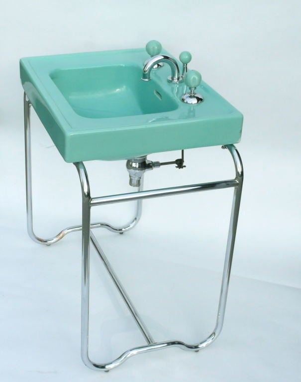 Iconic Original Streamline Art Deco Sink By George Sakier image 3