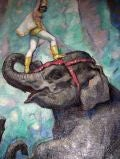 Dolly Jacobs & Her Elephants 1947 Ringling Bros.by Glen Tracy image 2