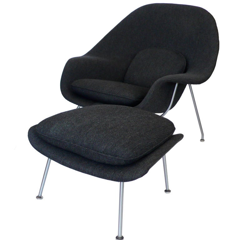 eero saarinen womb chair and ottoman knoll w orig upholstery at
