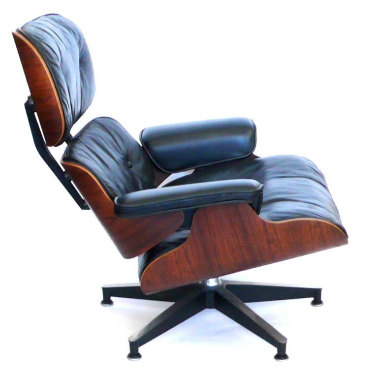 original 1965 eames 670 lounge chair and 671 ottoman black