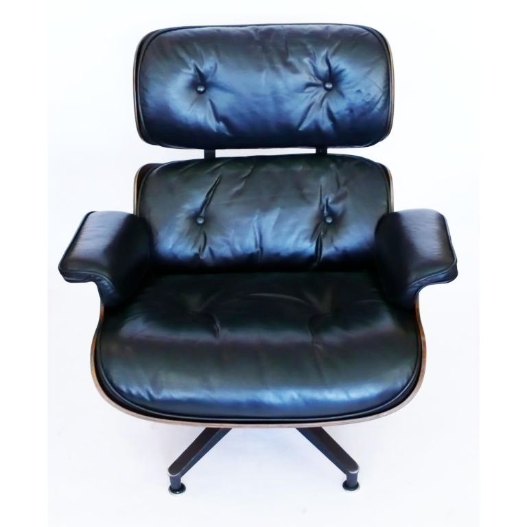 Original 1970 Eames 670 Lounge Chair And 671 Ottoman Black Leather At 1stdibs