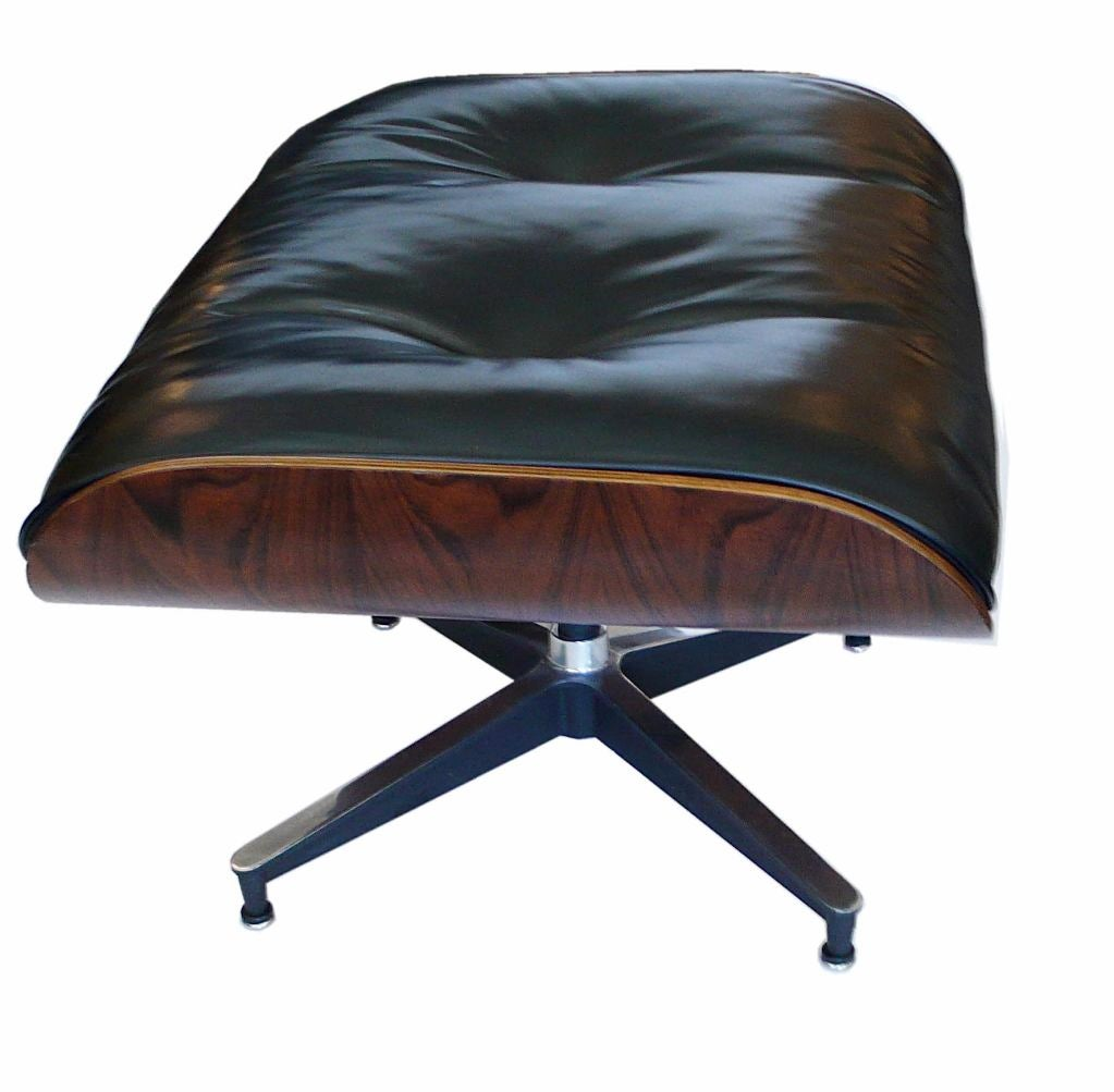 original 1970 eames 670 lounge chair and 671 ottoman black. Black Bedroom Furniture Sets. Home Design Ideas