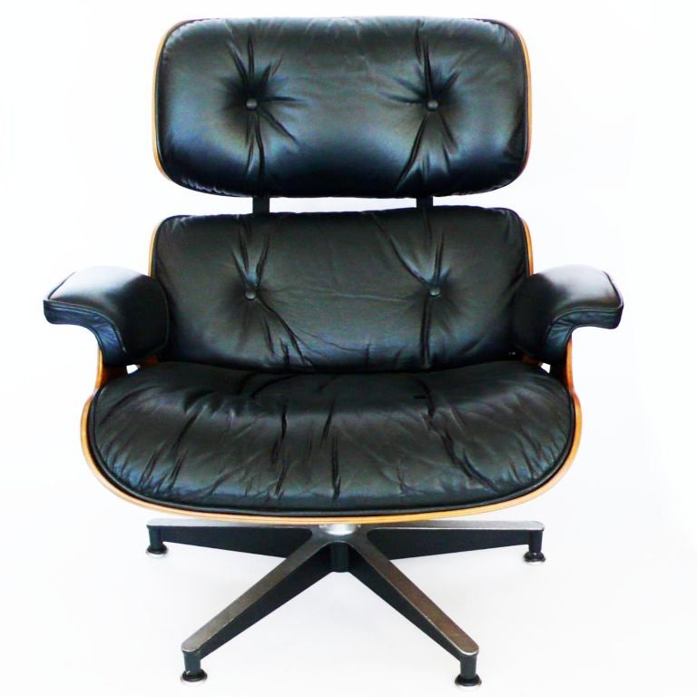 Original 1978 Eames 670 Lounge Chair And 671 Ottoman Black Leather At 1stdibs