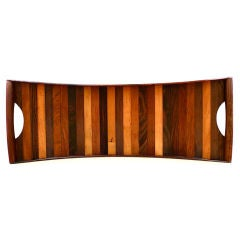 Fine Laminated Rosewood Serving Tray by Don Shoemaker