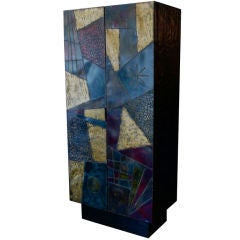 Rare Monumental Paul Evans Signed Geometric Cabinet 1972