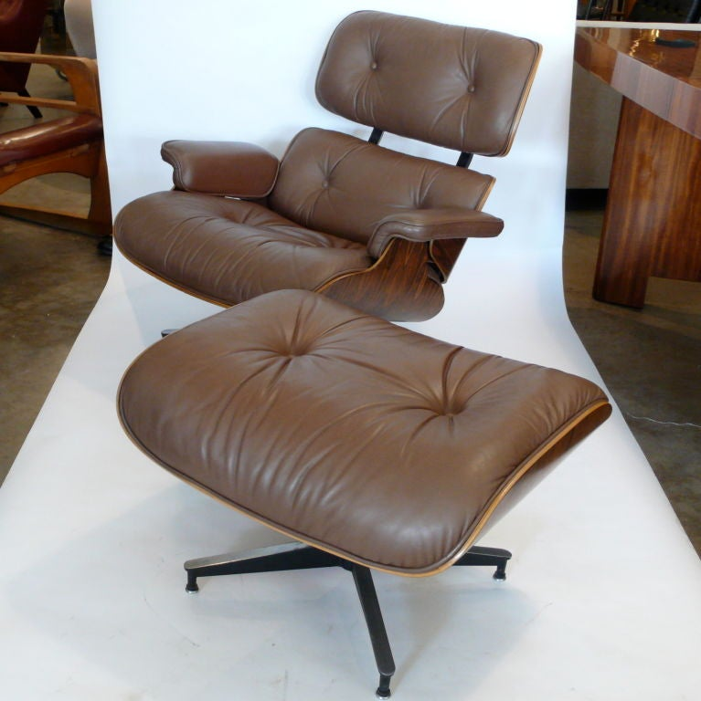 Original 1979 Eames 670 Lounge Chair And 671 Ottoman Camel