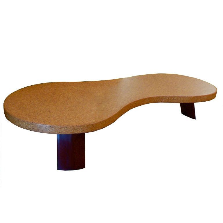 Fantastic Cork And Mohagany 5028 Coffee Table By Paul Frankl For Sale At 1stdibs
