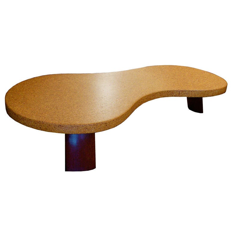 Fantastic Cork And Mohagany 5028 Coffee Table By Paul Frankl At 1stdibs