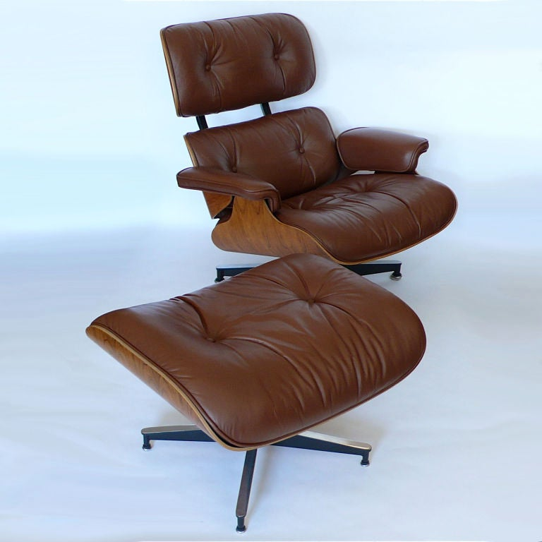 original eames 670 lounge chair and 671 ottoman in brown
