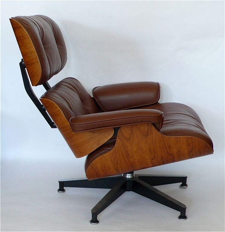 Original Eames 670 Lounge Chair And 671 Ottoman In Brown Leather At 1stdibs