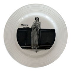 Set of 6 1930's Art Deco Cocktail Plates by Crown Ducal, England