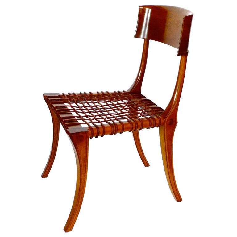 Rare Klismos Chair by T H Robsjohn Gibbings Saridis of
