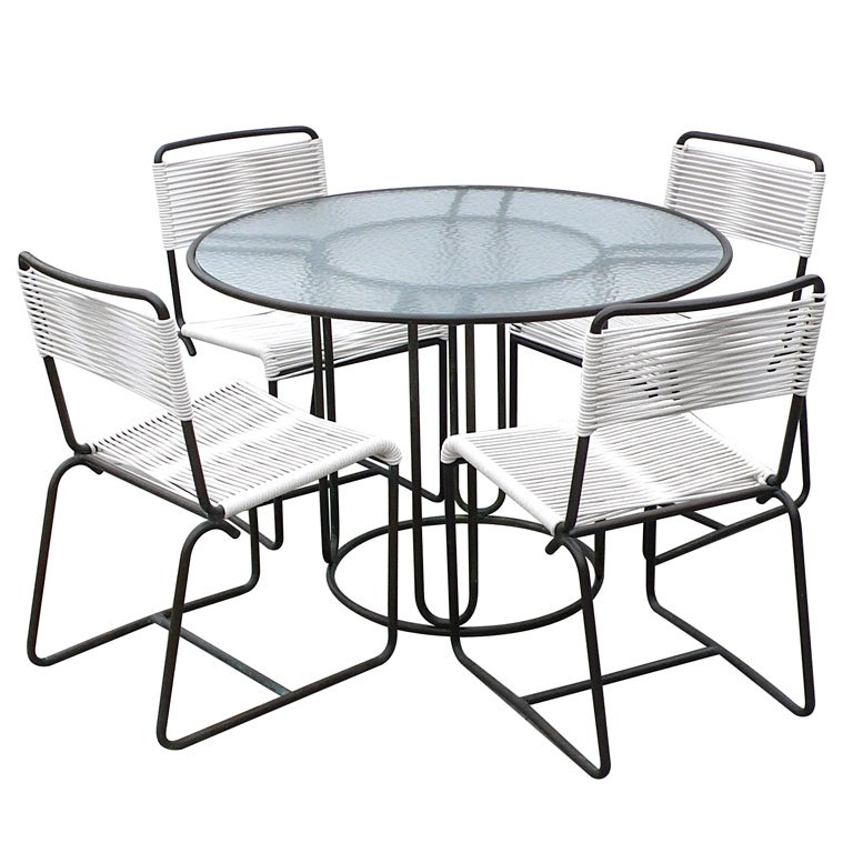 Walter Lamb Bronze Dining Table and 4 Matching Chairs at  : XXX817613327165301 from www.1stdibs.com size 768 x 768 jpeg 86kB