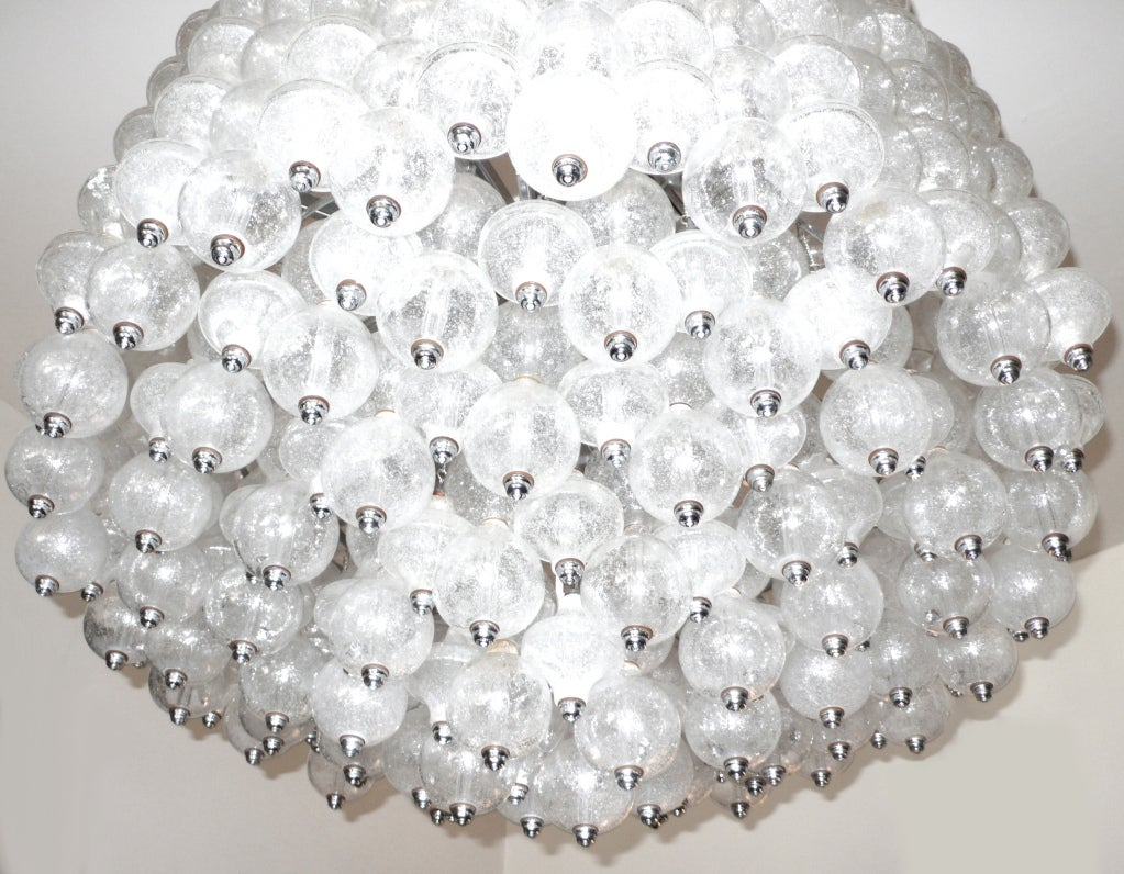 Massive Venini Glass Chandelier 2