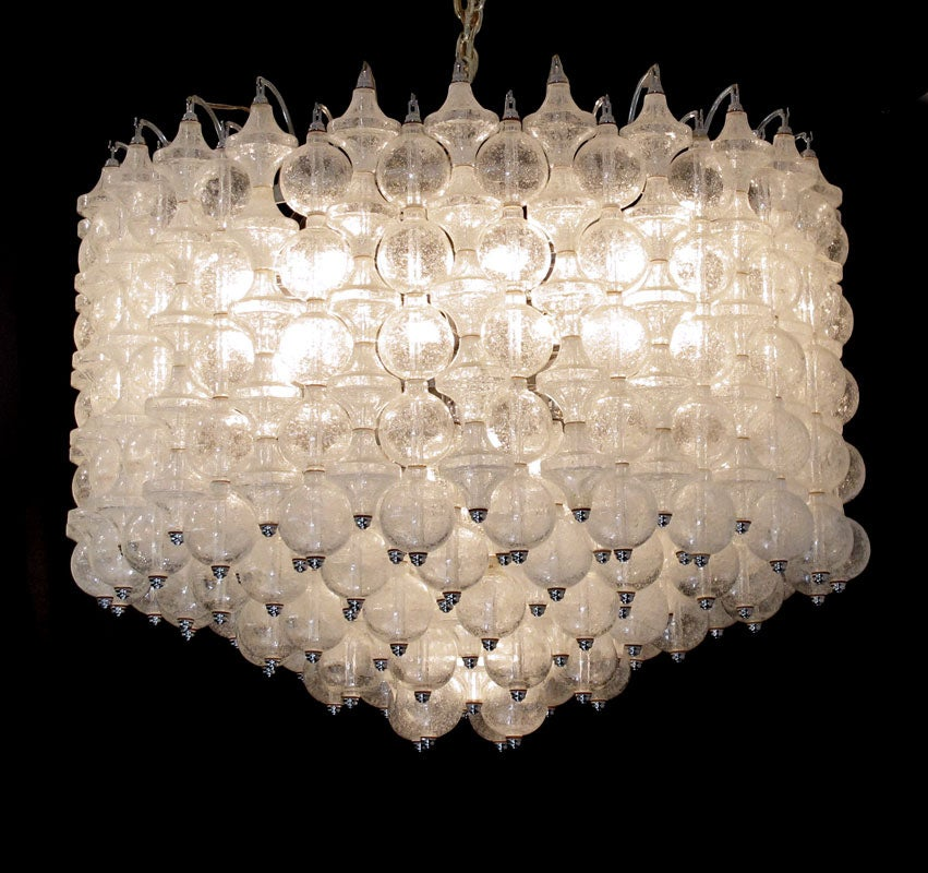 Massive Venini Glass Chandelier 4