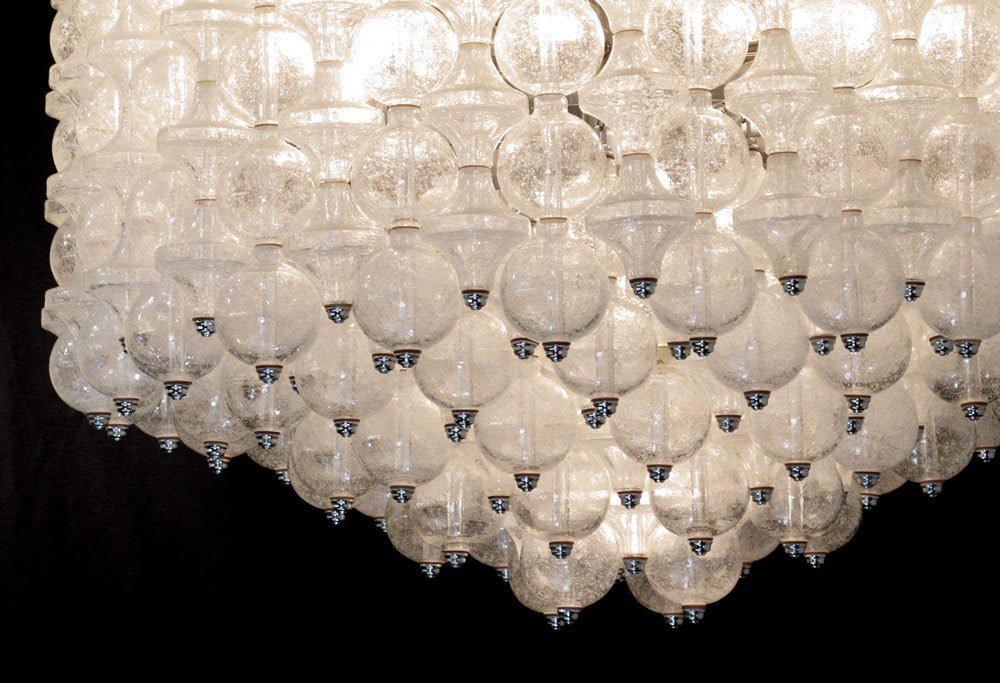 Massive Venini Glass Chandelier 5