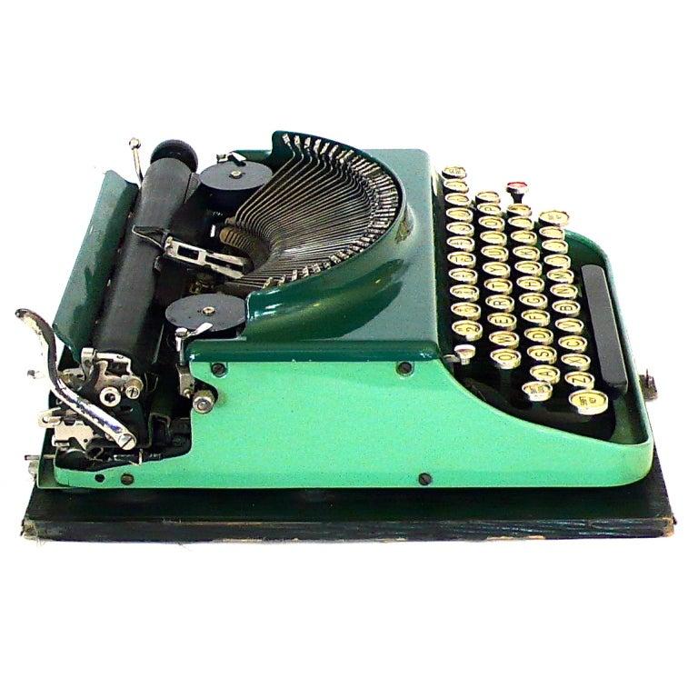 Fantastic Art Deco Original 1927 Green Remington Typewriter 3