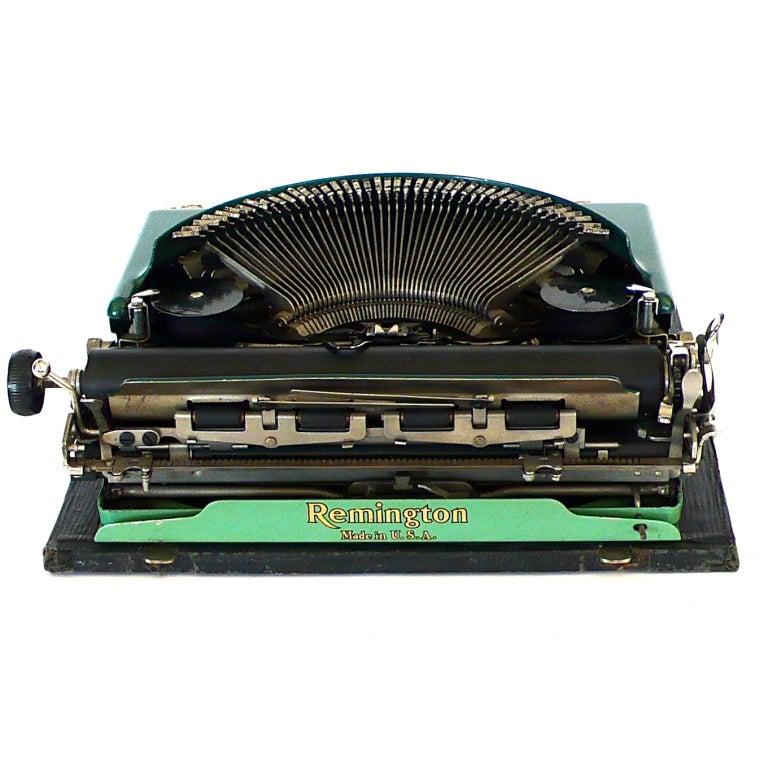 Fantastic Art Deco Original 1927 Green Remington Typewriter 4