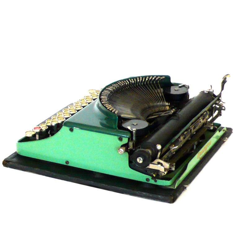 Fantastic Art Deco Original 1927 Green Remington Typewriter 5