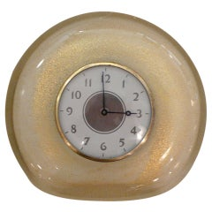 Wonderful Sommerso Barovier Table Clock