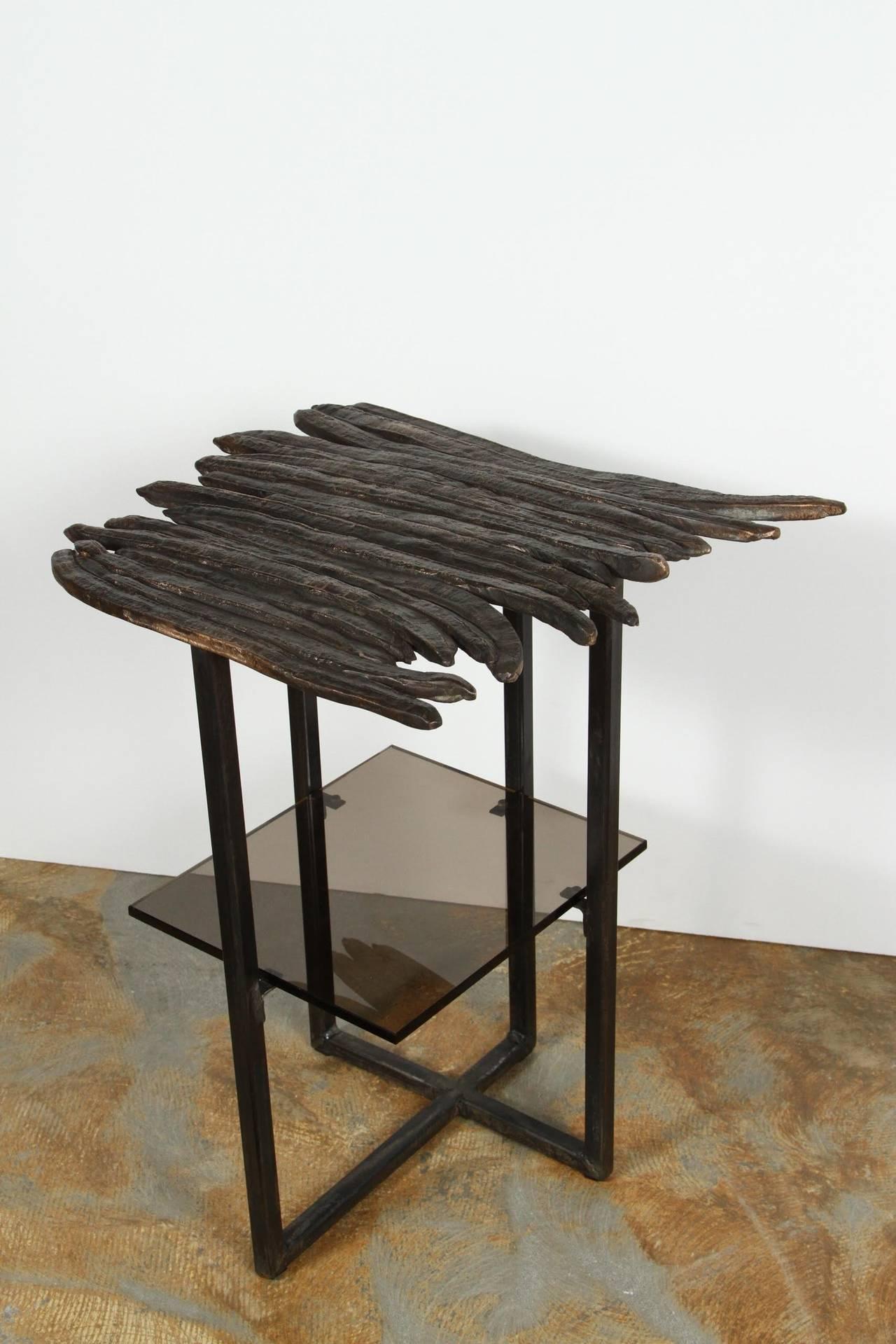Paul Marra Cast Bronze Pod Table For Sale 1