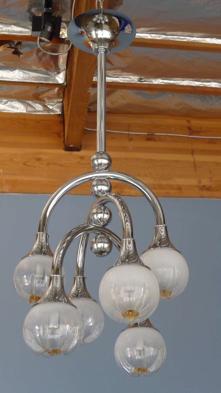 Mazzega Space Age Chandelier For Sale 4
