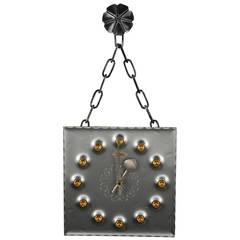 Mid-Century Brutalist Mod Wall Clock