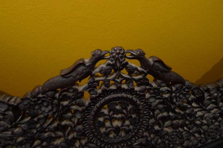 Highly Detailed Hand Carved Burmese Settee 1880s At 1stdibs