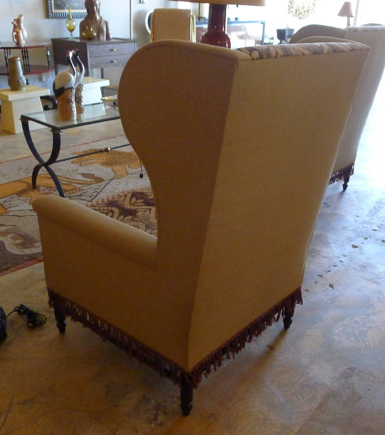 Bohemian Early 20th Century Wingback Pair Chairs For Sale At 1stdibs
