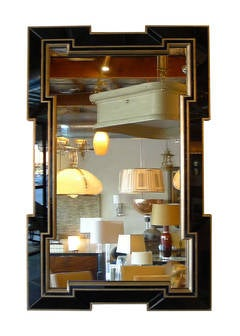 Paul Marra Design Greek Key Mirror with Black Mirror Border