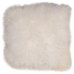 Ivory Mongolian Lamb Pillow