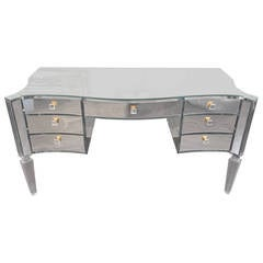 Glamorous Transparent Mirrored Writing Desk