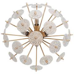 Belgium Snowflake Flush Mount Light Fixture