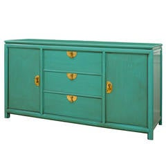 Fabulous Vintage Buffet by Thomasville in Turquoise Lacquer
